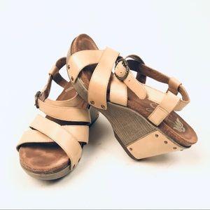 Dansko Strappy Sandals Wedge Heels